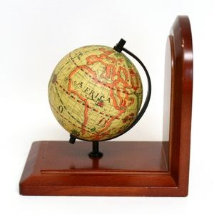 Vintage Old World Style Spinning Globe Bookend